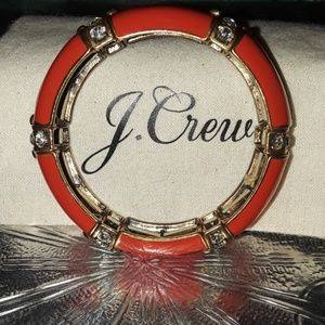 J. Crew orange rhinestone Bracelet